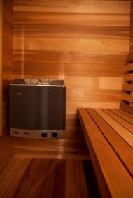 Innen Massivholz Sauna