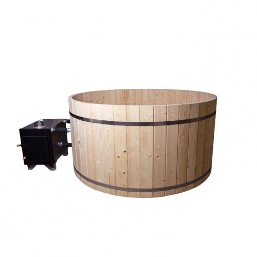ein badefass mit einem durchmesser von 220 cm gefertigt aus kiefernholz. Black Bedroom Furniture Sets. Home Design Ideas